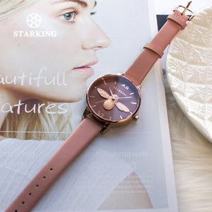 STARKING 2018 New Design Women Creative Quartz Bee Watch