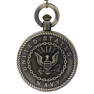 Pocket Watch- Army, Navy, Air Force, Marine Corps, Coast Guard, or Firefighter