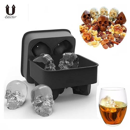 Three D (3D) Skull Ice Molds