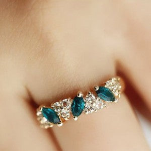 Austrian Crystal Gold Colored Ring