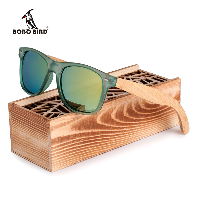 BOBO BIRD Men and Women Polarized Sunglasses Bamboo Wood