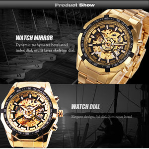 FORSINNING Mens Gold Automatic Watch