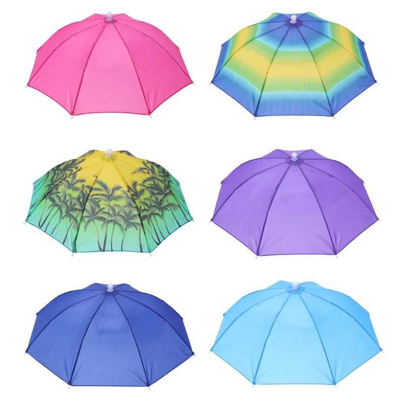 Portable Head Umbrella Hat Caps