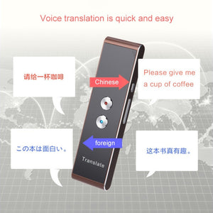 Portable Smart Voice Speech Translator Two-Way Real Time 30 Multi-Language Translation