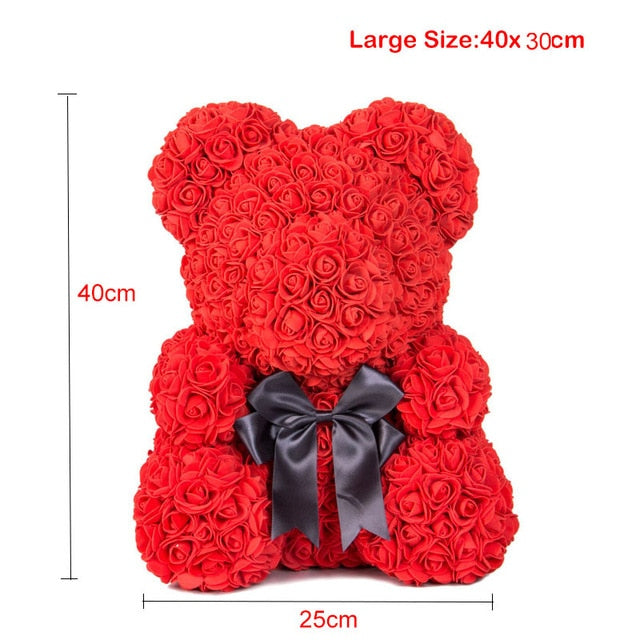Artificial Flowers Valentines Day Rose Bear