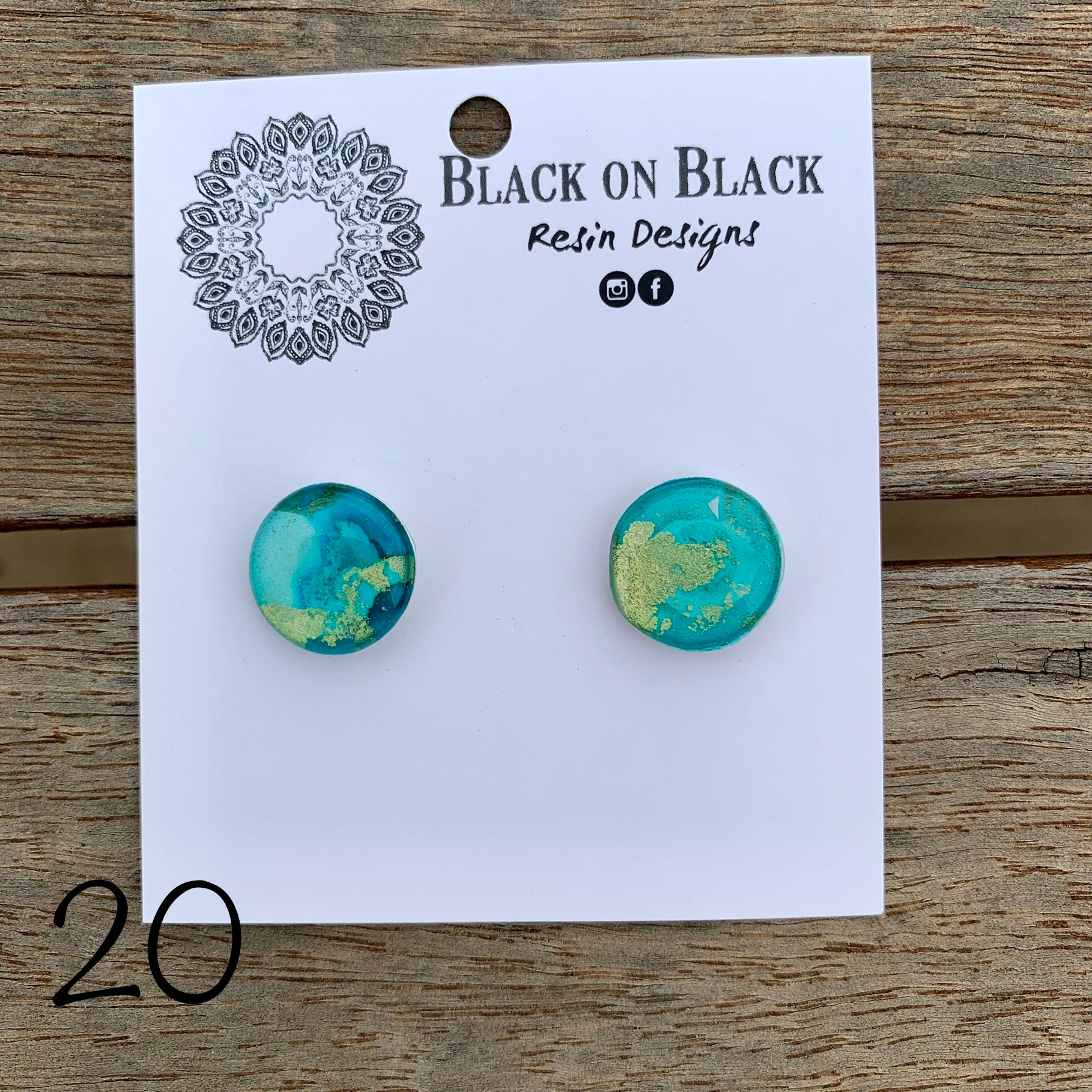 Ink Earring 15mm #20