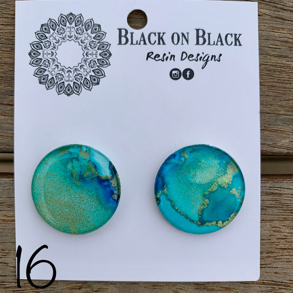 Ink Earring 25mm #16