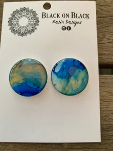 Ink Earring 25mm A11