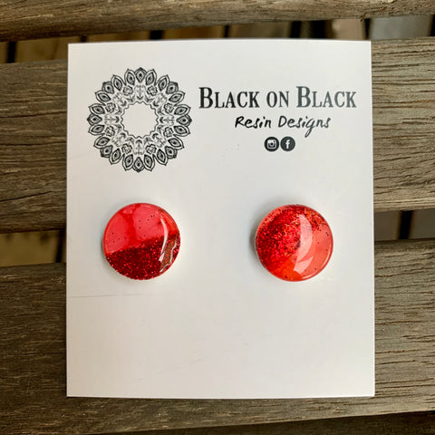 Ink Earring 15mm N#3