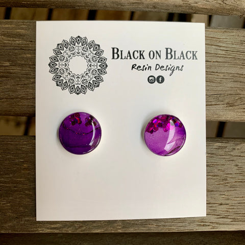 Ink Earring 15mm N#1