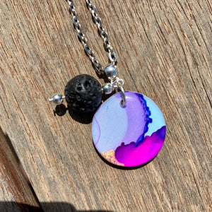 Ink Aromatherapy Necklace Small 25mm #3