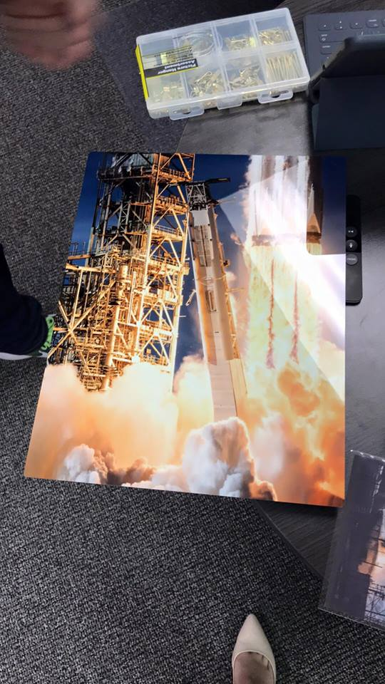 Falcon Heavy Metallic Prints (Print on hard Metal w/back mount)