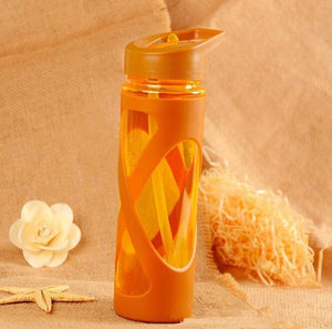 580ml Plastic Water Bottle with Straw - And Above All...YOGA