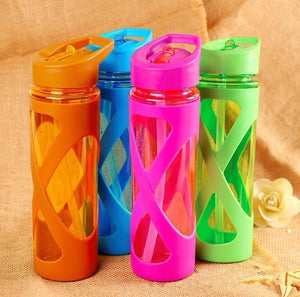 580ml Plastic Water Bottle with Straw Water Bottle