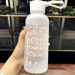600ML Portable Plastic Water Bottles - And Above All...YOGA