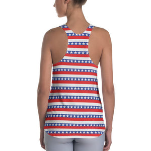 """America"" Women's Racerback Tank Top Made to Order - And Above All...YOGA"