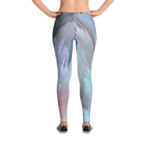 """Blue Abstract"" Yoga Pants - And Above All...YOGA"