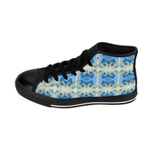 """Blue Floral Deluxe Women's High-top Sneakers - And Above All...YOGA"