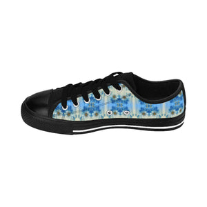 """Blue Floral"" Deluxe Women's Sneakers - And Above All...YOGA"