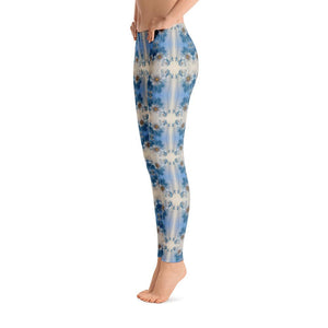 """Blue Floral"" Made to Order Standard Yoga Pants - And Above All...YOGA"