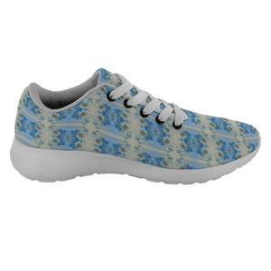 """Blue Floral"" Running Shoes - And Above All...YOGA"