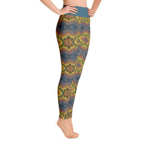 """Blue-Gold Mandala Fantasy"" Deluxe, Made to Order Yoga Pants - And Above All...YOGA"