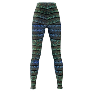 Blue-Green Yoga Pants - And Above All...YOGA