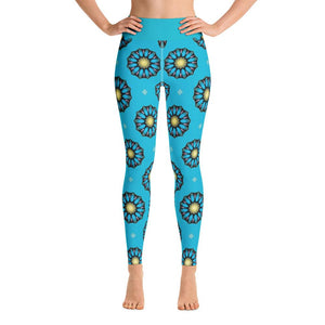 """Blue Mandala"" Deluxe Made to Order Yoga Pants-Fitness Wear, yoga pants, $50 and above-And Above All...YOGA"