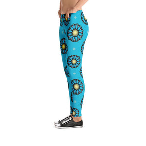 """Blue Mandala"" Standard Made to Order Yoga Pants-Fitness Wear, yoga pants, $30-$50-And Above All...YOGA"