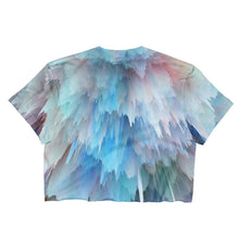 """Blue & Pink Explosion"" Women's Crop Top - And Above All...YOGA"
