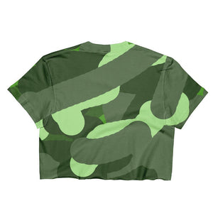 """Camouflage"" Women's Crop Top - And Above All...YOGA"