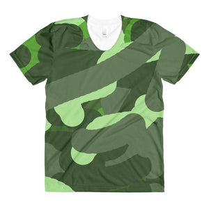 """Camouflage""Women's Crew Neck T-Shirt - And Above All...YOGA"