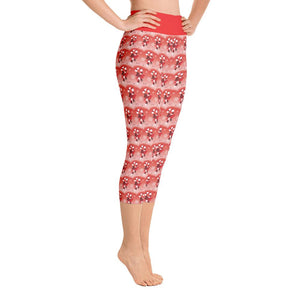 """Candy Cane Fantasy"" Deluxe, Made to Order Capri Yoga Pants - And Above All...YOGA"