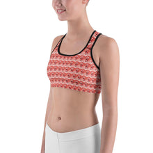 """Candy Cane Fantasy"" Deluxe, Made to Order Sports bra - And Above All...YOGA"