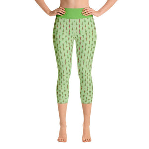 """Christmas Tree Fantasy"" Made to Order Capri Yoga Pants - And Above All...YOGA"