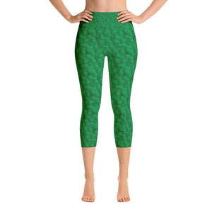 """Circles in Green"" Capri Yoga Pants - And Above All...YOGA"