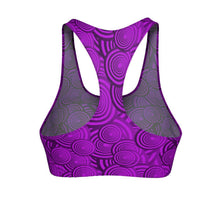 """Circles in Hot Pink"" Cut & Sew Sports Bra - And Above All...YOGA"