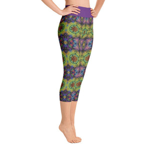 """Colliding Galaxies"" Deluxe Capri Yoga Pants - And Above All...YOGA"