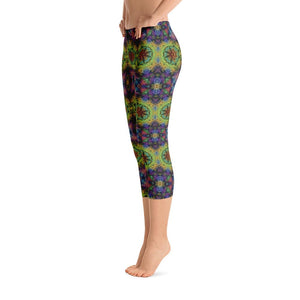 """Colliding Galaxies"" Standard Capri Yoga Pants - And Above All...YOGA"