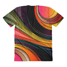 """Color Swirl"" Women's Crew Neck T-Shirt - And Above All...YOGA"