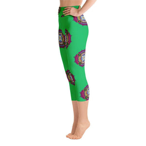 """Contemplation"" Capri Yoga Pants - And Above All...YOGA"