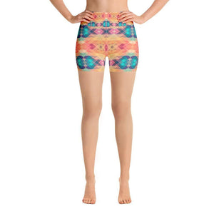 """Contemporary Southwest"" Yoga Shorts - And Above All...YOGA"