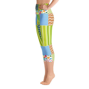 """Crazy Quilt"" Capri Cut Yoga Pants - And Above All...YOGA"