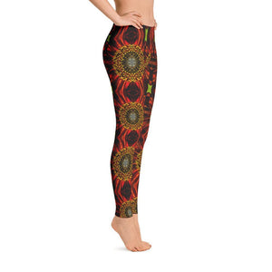 """Daisy Abstraction"" Yoga Pants - And Above All...YOGA"