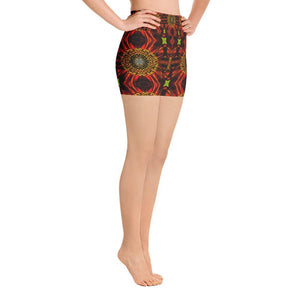 """Daisy Abstraction"" Yoga Shorts - And Above All...YOGA"