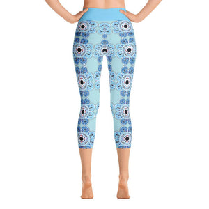 """Delft-Like"" Deluxe Capri Yoga Pants - And Above All...YOGA"