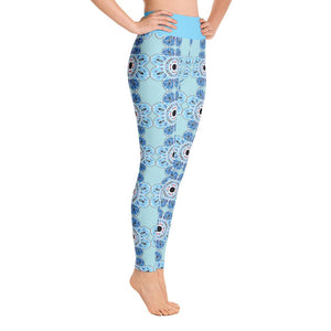 """Delft-Like Mandala"" Deluxe Yoga Pants - And Above All...YOGA"