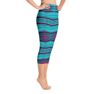 """Diamond Tapestry"" Capri Yoga Pants - And Above All...YOGA"