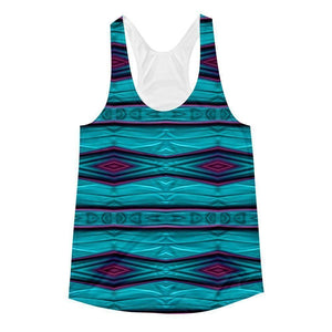 """Diamond Tapestry"" Women's Racerback Tank Top - And Above All...YOGA"