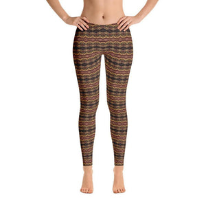 """Earthen Abstract"" Standard, Made to Order Yoga Pants - And Above All...YOGA"